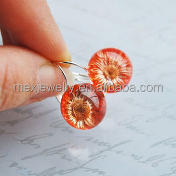 Mini Pressed Flower Earrings Real