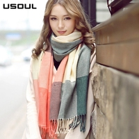 2017 Hot Style Han Edition Fashion Thick Winter Long Cashmere Striped Women Scarf