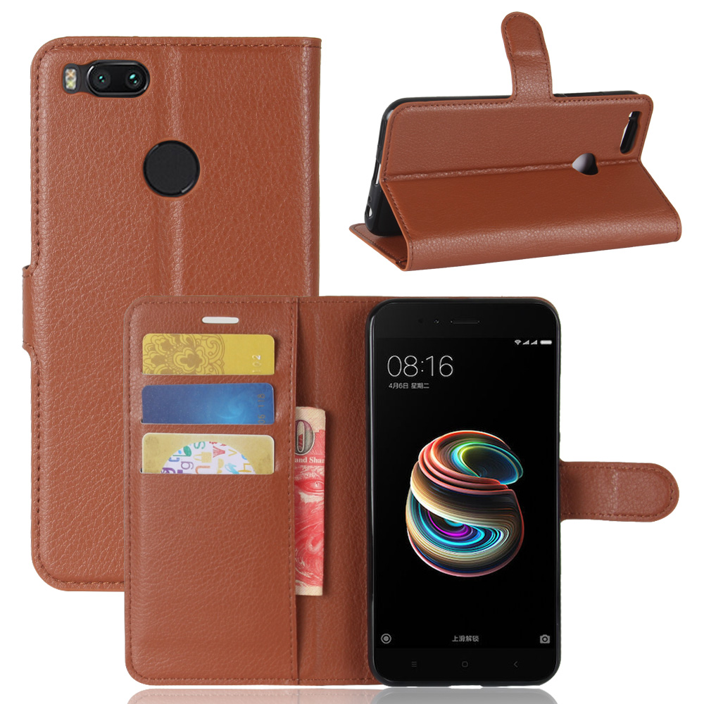 hot sale online ddfba 752e8 Lichi Pattern Cell Phone Cover Body Protective Leather Flip Case For Xiaomi  Mi A1 Case Cover - Buy Flip Case For Xiaomi Mi A1,Leather Case For Xiaomi  ...