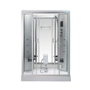 New Elegant Freestanding Shower Stall With 2 Seats and Steamer