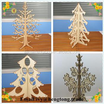 Großhandel Günstige Cusmos DIY Laser Cut Holz Weihnachtsbaum,  Weihnachtsdekoration Baum, Holz Handwerk