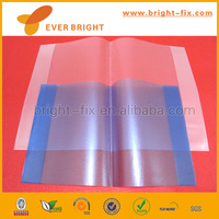 A4 size transparent colored plastic sheet/self adhesive transparent book cover