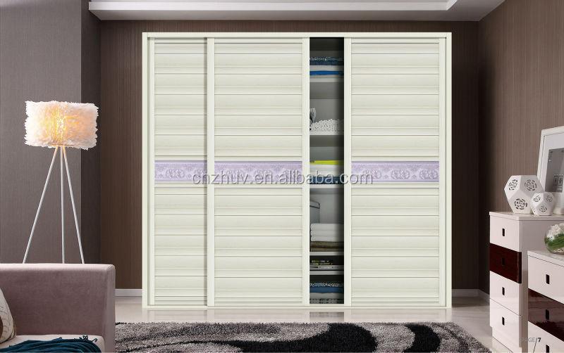 2015 New Arrival Mdf Louver Sliding Door Bedroom Cupboard Designs