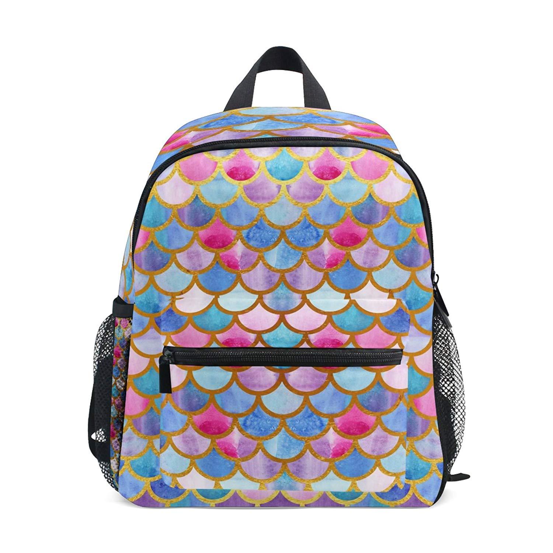 168c023de16f Get Quotations · ZZKKO Beach Ocean Sea Colorful Mermaid Scale Kids Backpack  Pre-School Bag for Kindergarten Toddler