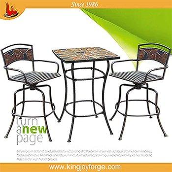 2014 nieuwe ontwerp smeedijzeren patio tafel en stoel sets buy product on - Leuningen smeedijzeren patio ...