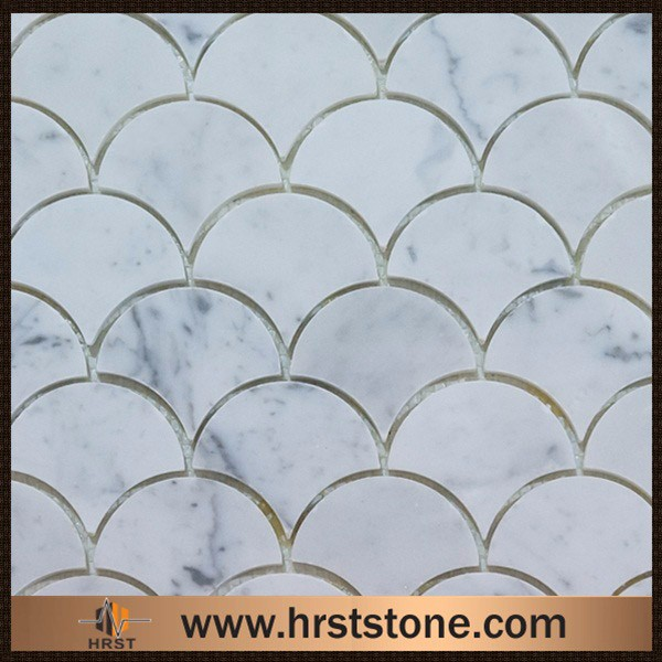 hot selling bathroom marble mosaic wall panels