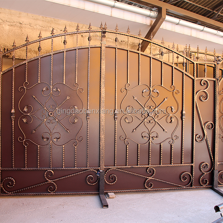 double iron gate design park house out doors school gates simple wrought iron gate