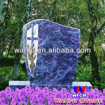 European Nature Purple Granite Modern Headstone Designs