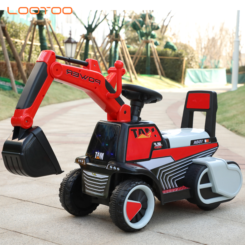 Trade assurance china manufacturer wholesale plastic music kids ride on toy excavator