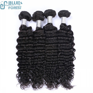 Blueforest Very cheap High Quality unprocessed peruvian deep wave , 100% peruvian hair wave