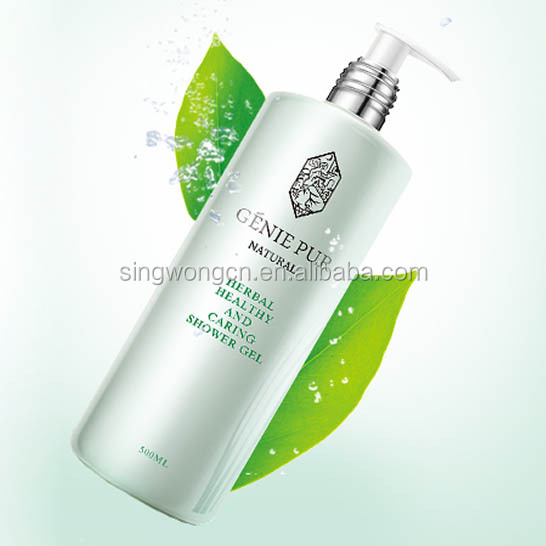 Private Label OEM Herbal Healthy And Caring Shower Gel 500ml GENIE PUR PH-balanced