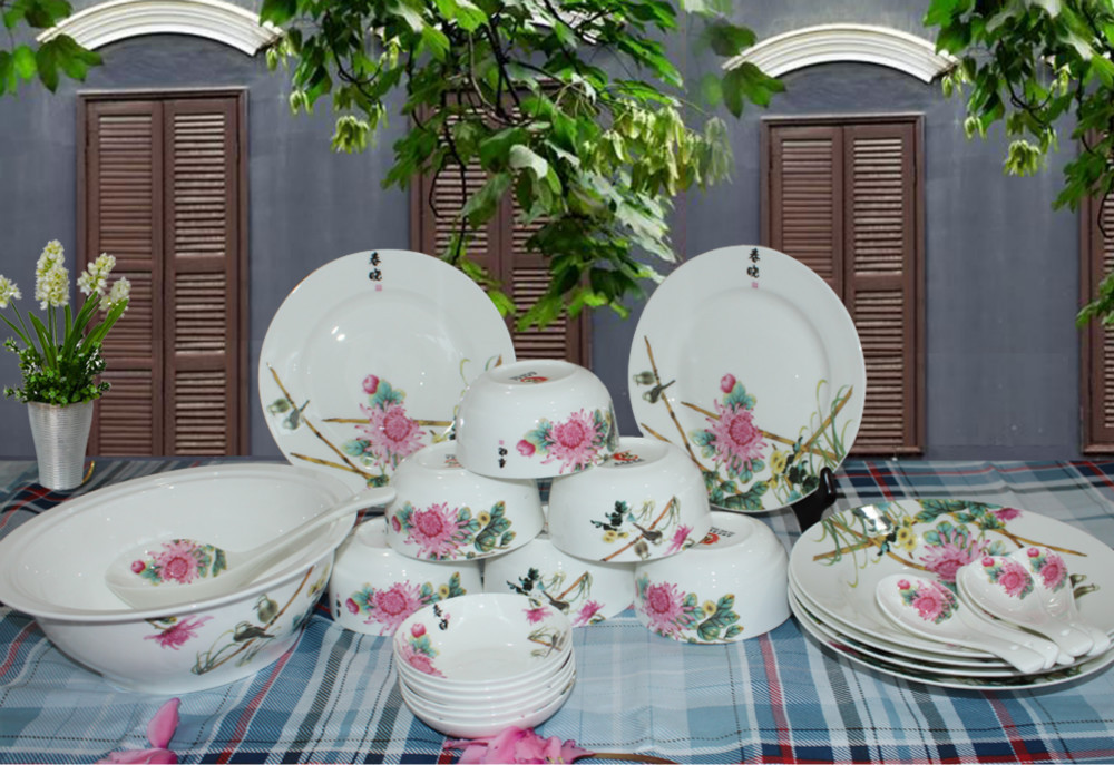 2015 new brand bone china tablewares dinner sets french style dinner set tableware fine china. Black Bedroom Furniture Sets. Home Design Ideas