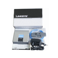 Support T38 fax Linksys PAP2T Voip Phone Adapter with low price