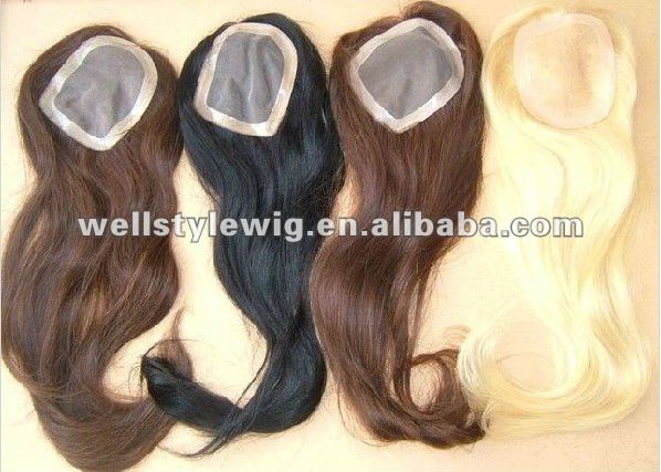 100% human hair women toupee mono base