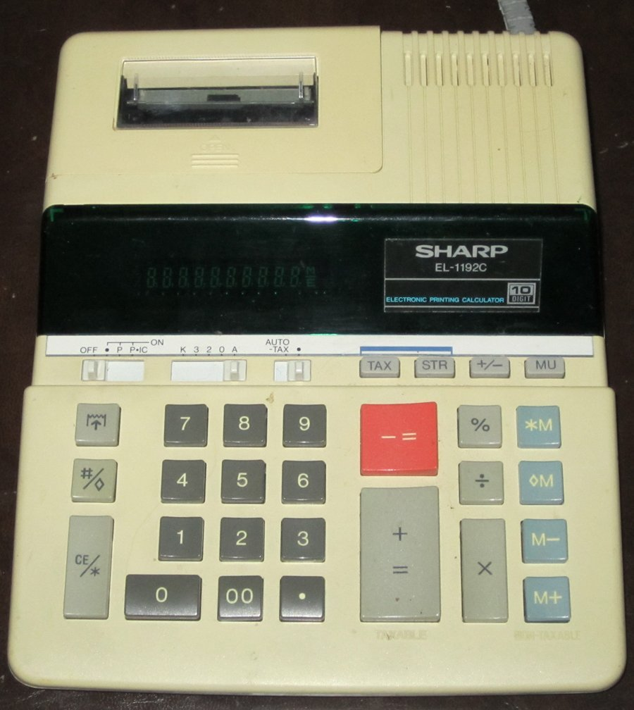Sharp Electronic Printing Calculator EL-1192C