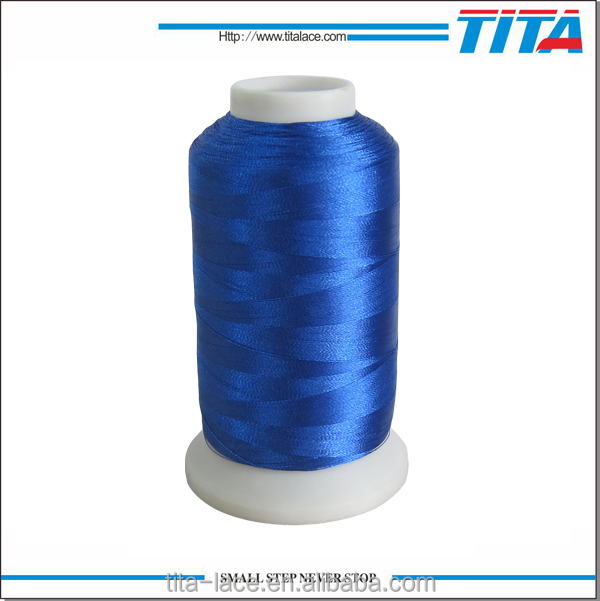 Navy blue polyester filament embroidery thread 120D for machine