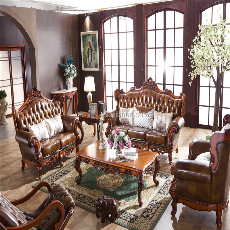 Luxury Classic European Living Room Sofa Set