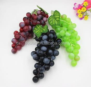 3 colors plastic fruit grape clusters artificial grapes for Buy grape vines for crafts