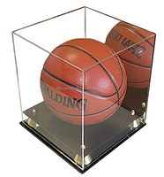 Deluxe Acrylic Display Case Box / Clear Plastic Basketball Display Stand