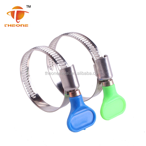 high quality best price stainless steel germany type hose clamps with color butterfly