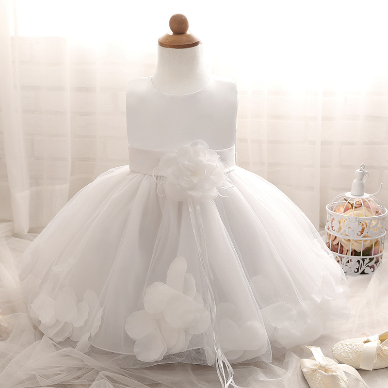 7cb27fec51f White Girls Wedding Party Dress