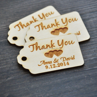 Personalized Thank You Wedding Craft Custom Engraved Wooden Hang Tags