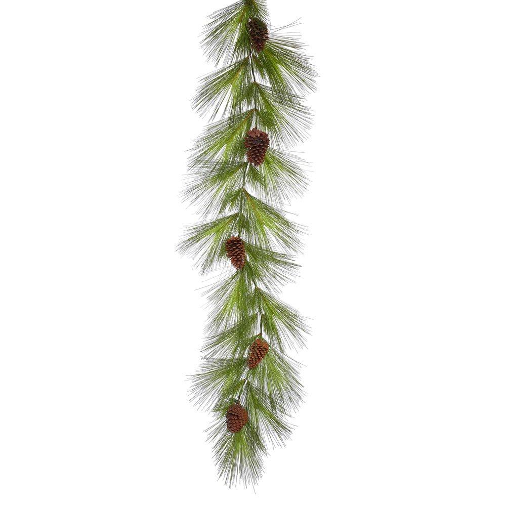 """Vickerman Unlit Big Mountain Pine Artificial Garland Artificial Pine Cones, 6' x 17"""""""
