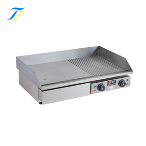 Electric Mini Pancake Griddle/Electric Griddle 1/3 Grooved And 2/3 Flat