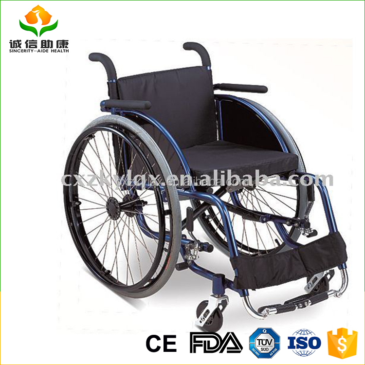 Confortable having commode and dinning board manual sport rear wheel wheelchair with safety belt