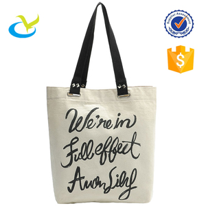 Good construction promotional printed canvas tote bags bulk
