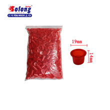 Solong Tattoo di medie Dimensioni 1000 pz Tattoo Ink Cups Plastic Caps hot clear plastic tattoo ink cup