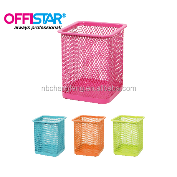 METAL MESH DESK ORGANIZER STATIONERY PEN HOLDER
