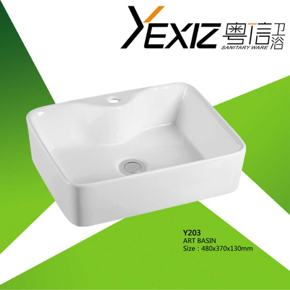 Y203 cheap porcelain sink/ ceramic sink bathroom / hand washing sink