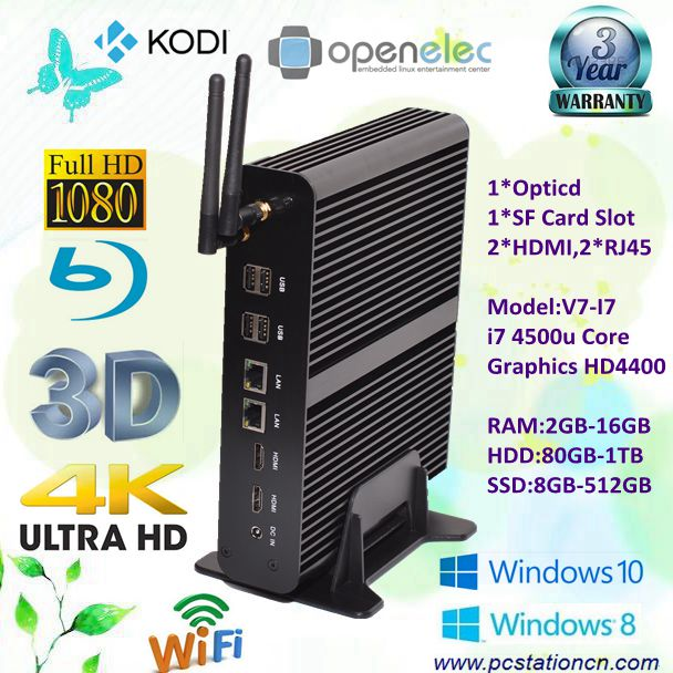 desktop pc with intel core i7 4500u gn4 win10 dc12v dual gigabit lan hd4400 graphics 4k hd 3d gaming small desktop htpc opticd