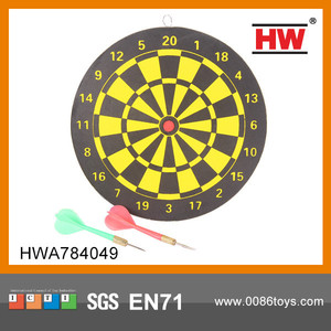 "Hot Sale Classic 9"" Wooden Dart Board"
