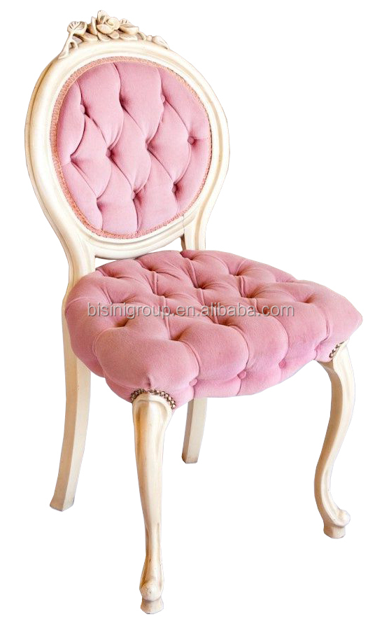 Lovely Lady Pinkie Tufted Accent Chair Elegant Solid Wood