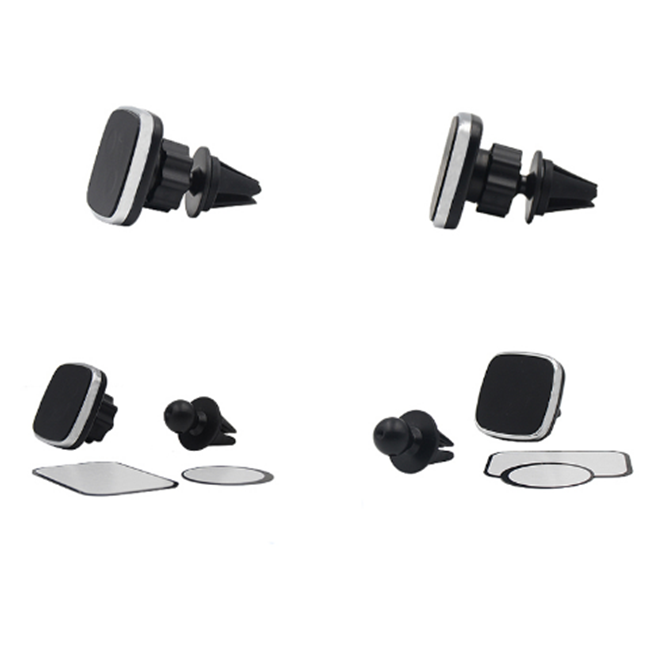 Square Air Vent Car Holder Magnetic Universal Car Mount Mobile Phone Holder For All Sizes Mobile Phone