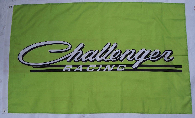 Green Challenger flag Dodge Challenger racing banner Durable Polyester Banner Dodge Challenger car flags 3×5 ft