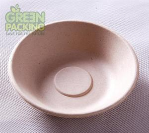 biodegradable party bowls 7'' unbleached bagasse bowls
