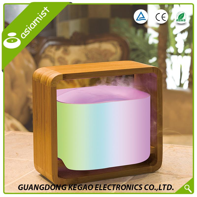 Volume production environmental hotel RGB changing color LED light waterless anion aroma diffuser wood