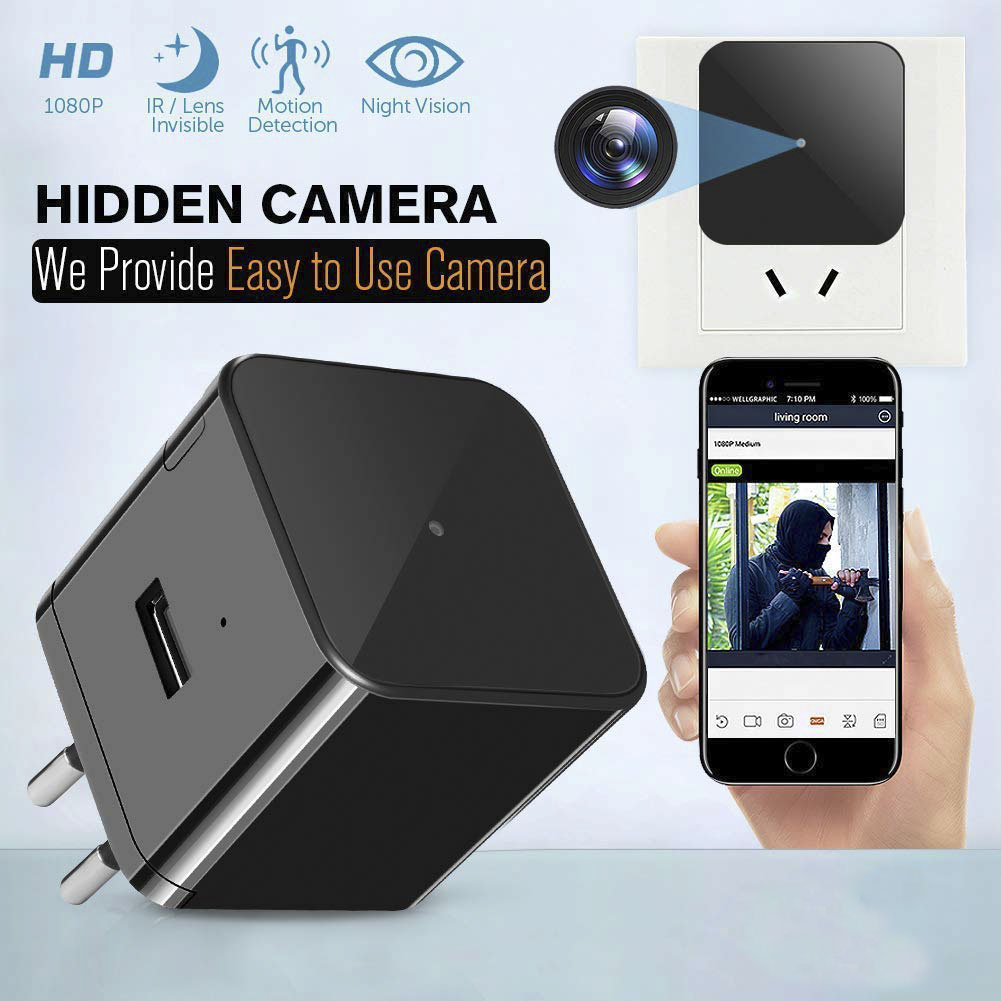 Gevilion Hot Sell Hd New camara espia wifi enchufe Power Plug Invisible Camera Nanny Cam Wifi Spy Camera Hidden