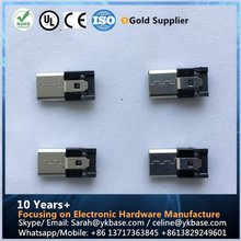 pogo pin connector for pc USB micro male head 5 pin termial connector pogo connector
