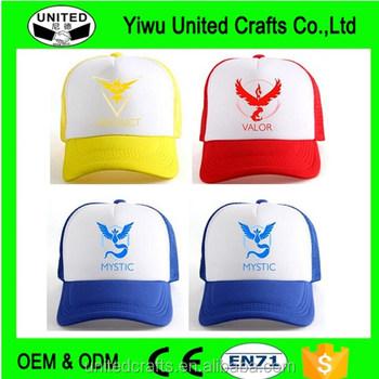 Pokemon Go Cap Hat Team Valor Team Mystic Team Instinct Pokemon Cap Pokemon  Hat 5f306714e03e