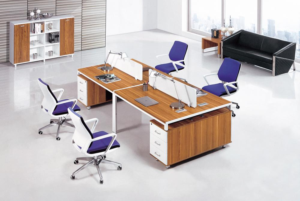 high quality office work. PT-17 High Quality Modern Wooden Office Table 4 People Workstation Furniture Work Desk H
