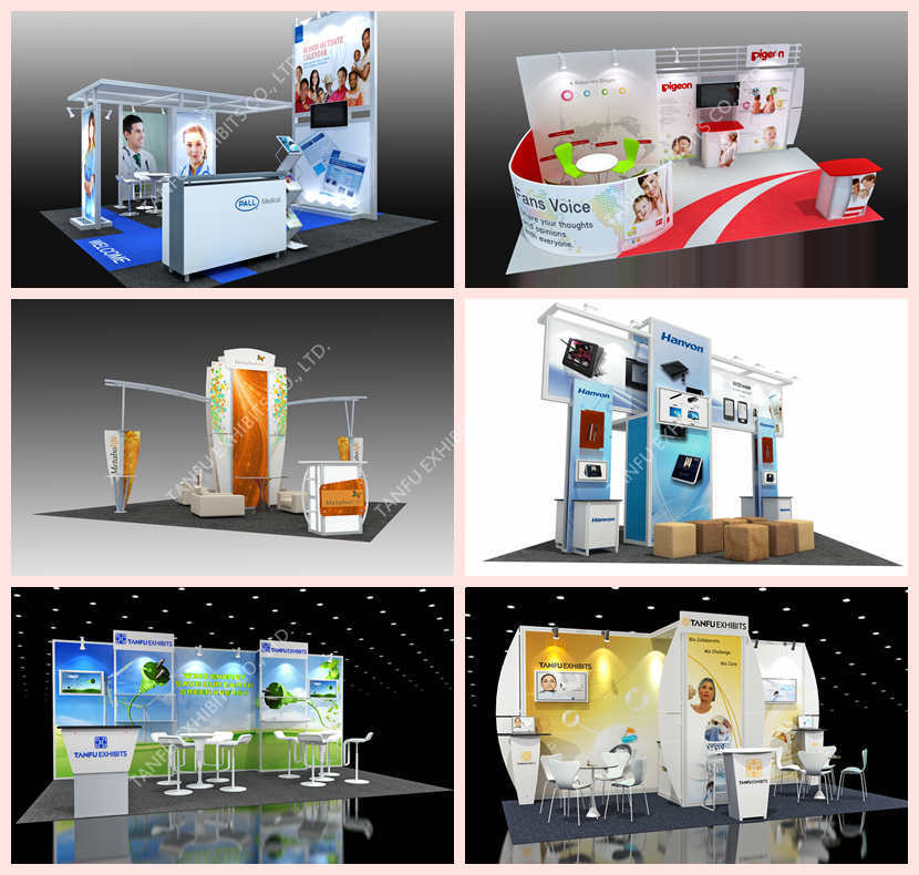 3x3 Exhibition Stand : Or shell scheme exhibition booth from tanfu