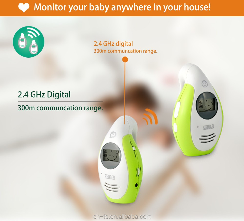 baby audio monitor walkie talkie phone monitor with belt clip