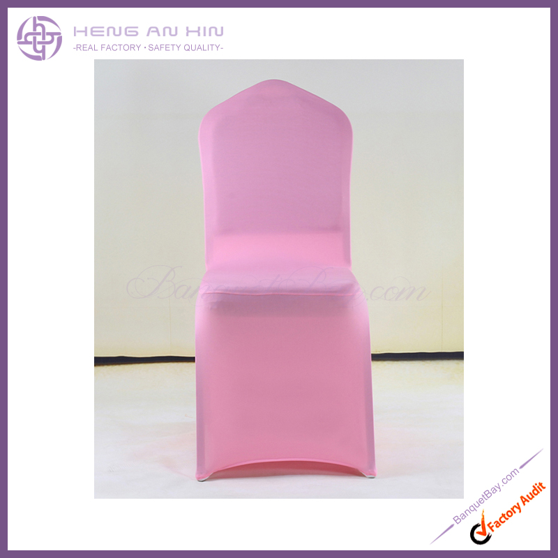 New style peach pink lycra wedding chair cover