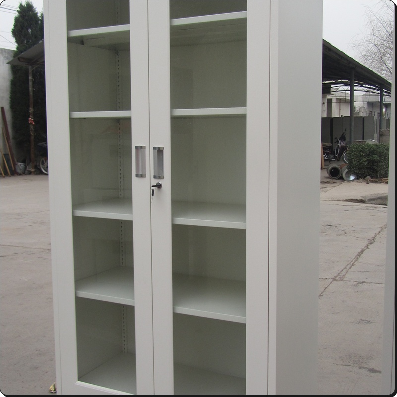 white glass door bookcase with glass doordouble glass door cabinet