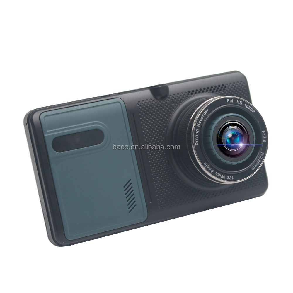 Nuovo HD1080p di visione notturna 5 pollici lcd motion detection dual camera car dash cam