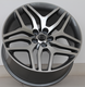 Silver/black A356.2 aluminum alloy car wheel rims 20 22 inch